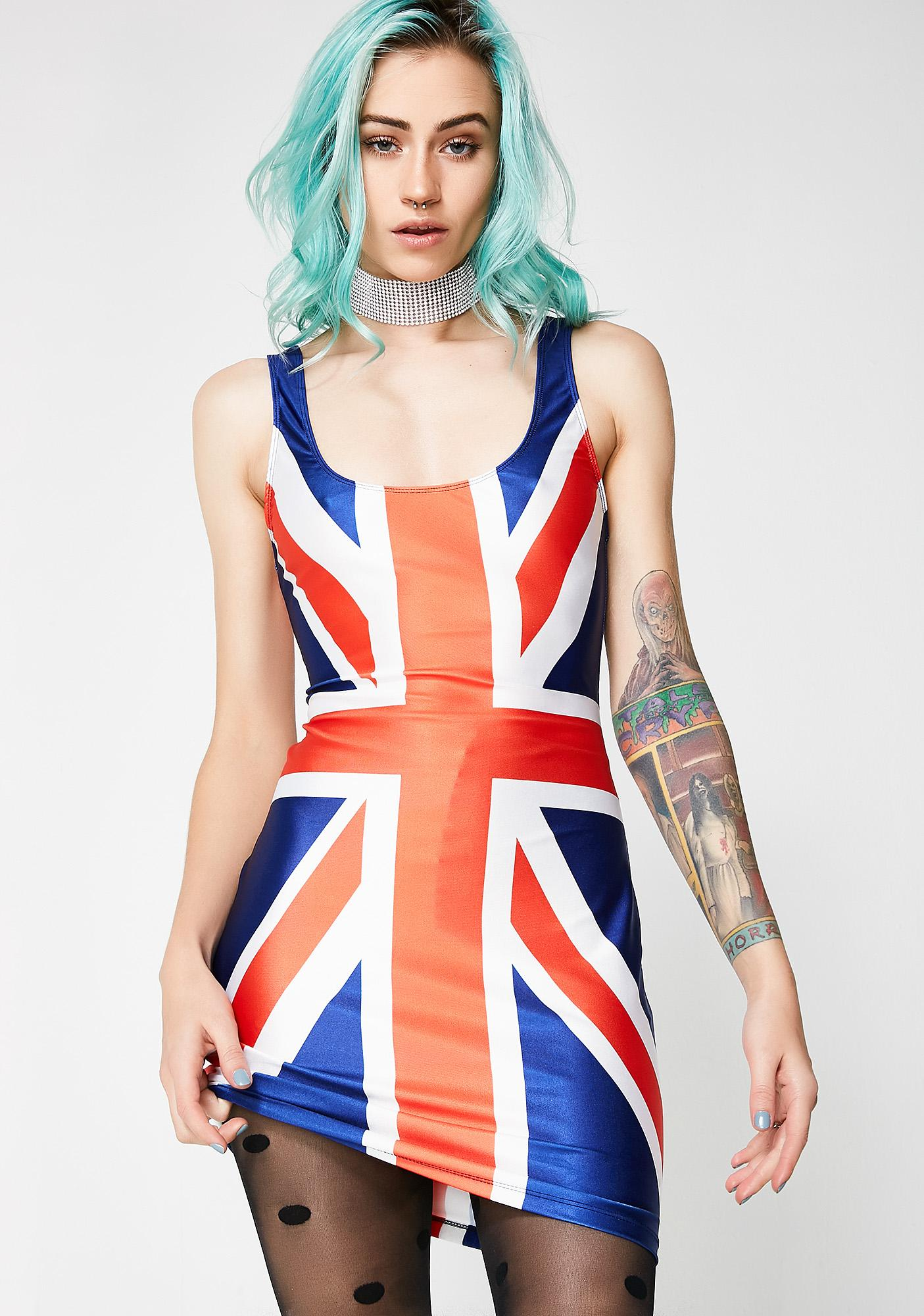 Jaded London Union Jack Mini Cami Dress