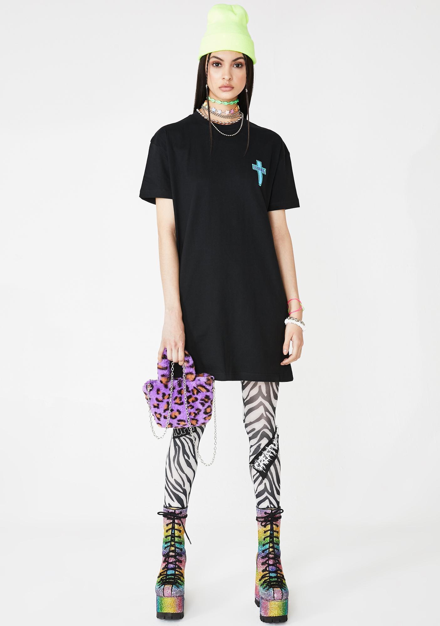 x-Girl Cross Short Sleeve Tee Dress