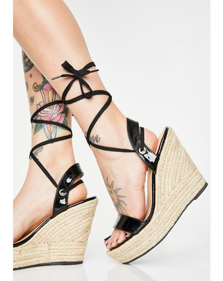 Brunch Babes Lace Up Wedges