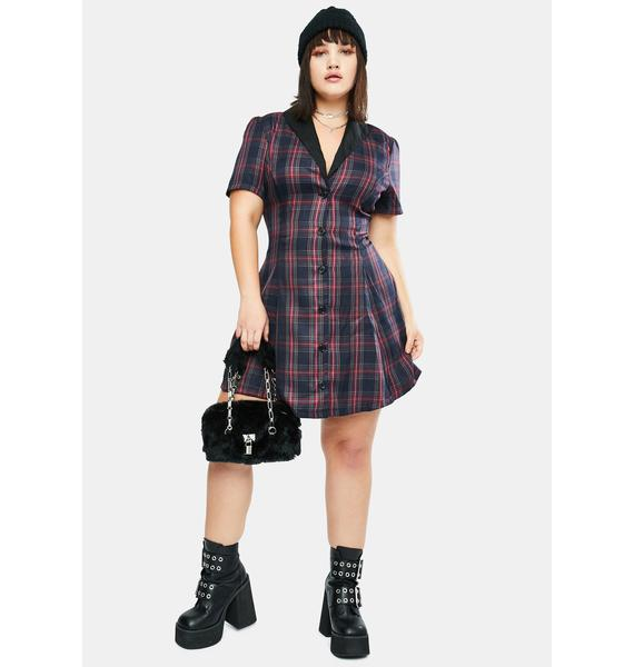 dELiA*s by Dolls Kill Crescent Moon In Her Eyes Plaid Mini Dress