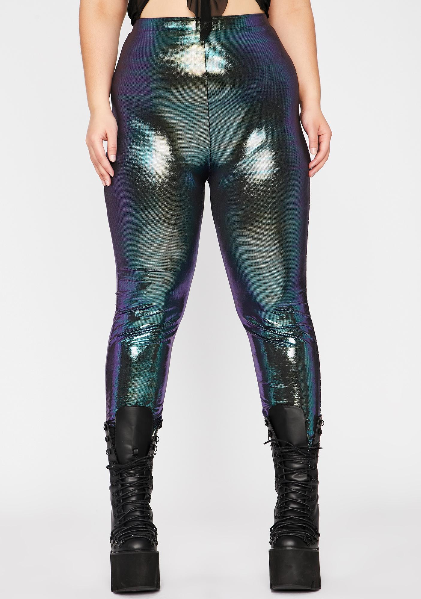 Epic Mermaid Disco Dimension Metallic Leggings