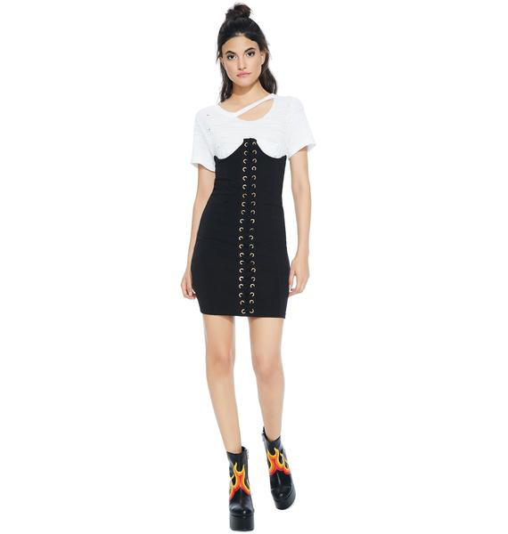 Worst Behavior Corset Dress