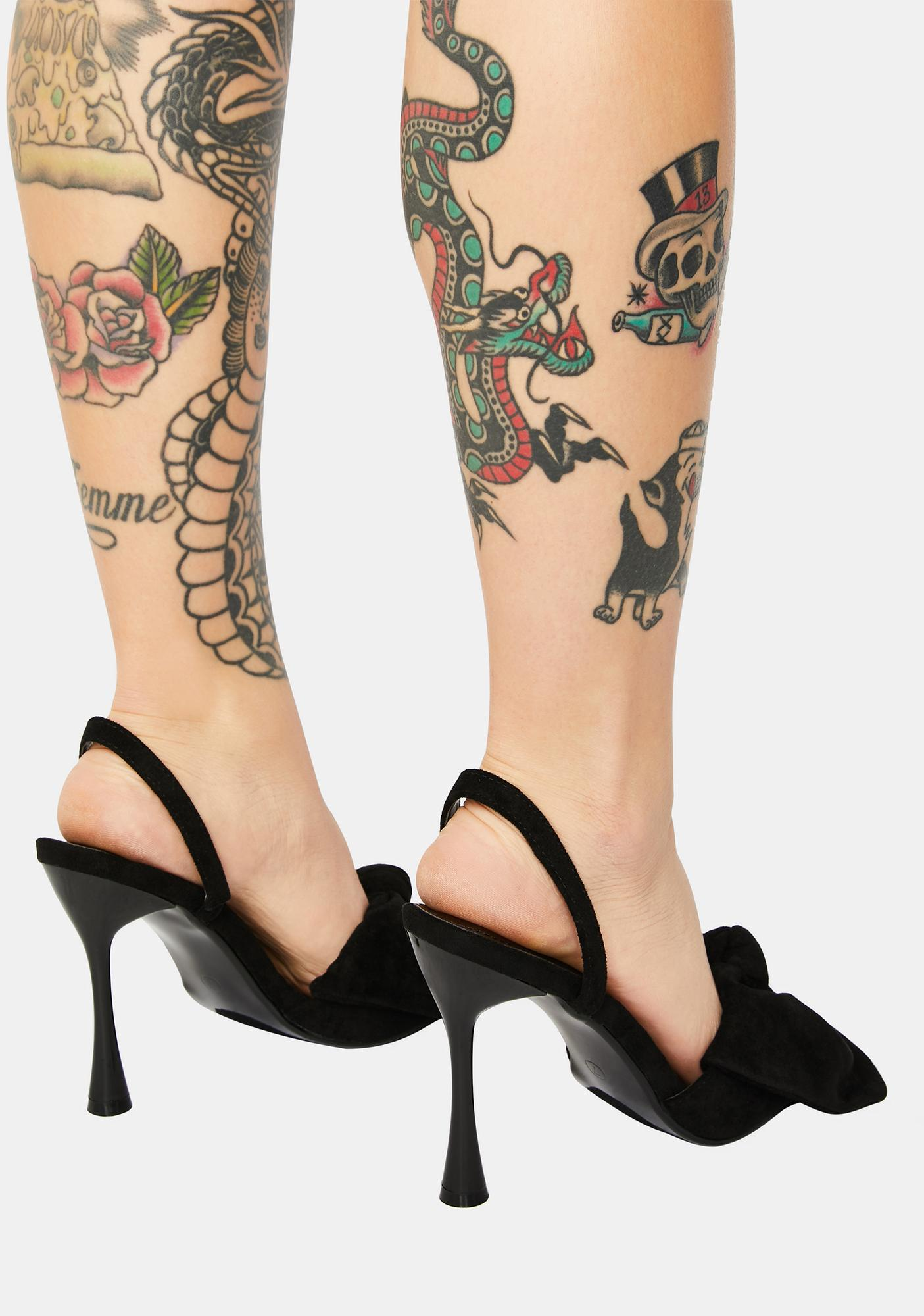 Vamp Went Viral Patent Bow Heels