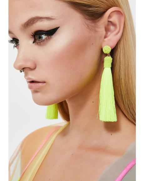 Hot Tropic Tassel Earrings