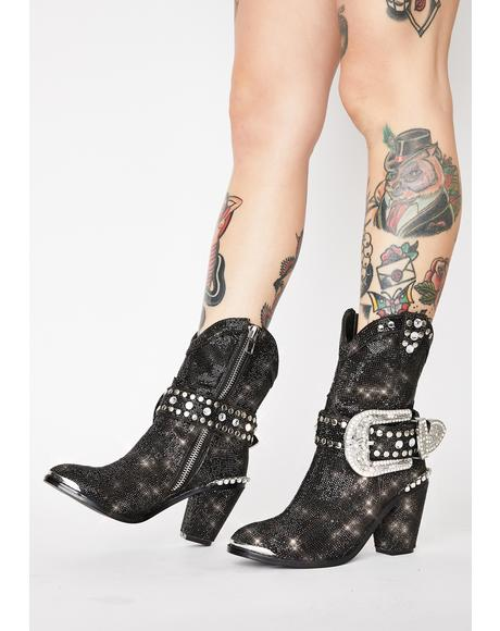 Midnight Sheriff Shine Cowboy Boots