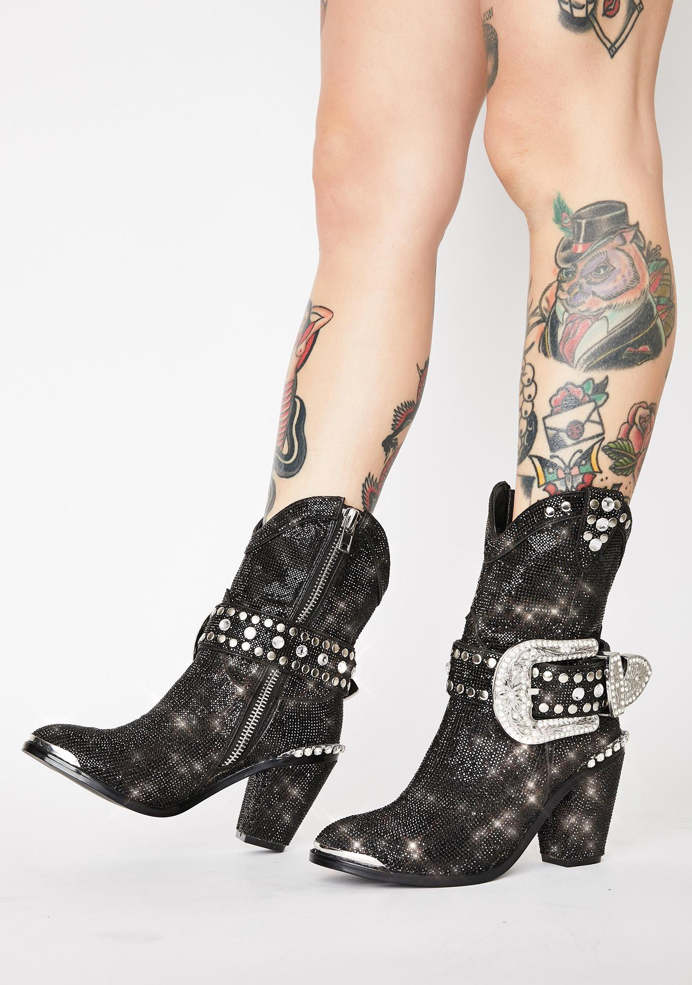 Club Exx Midnight Sheriff Shine Cowboy Boots