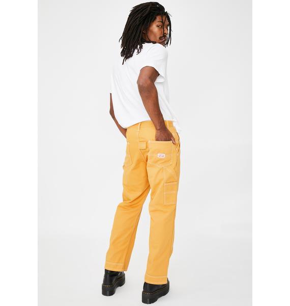 XLARGE Yellow Stitch Painter Pants