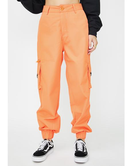 Orange Matira Cargo Pants