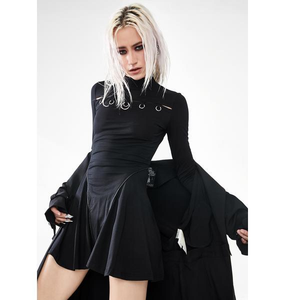 Punk Rave O-Ring Turtleneck Circle Dress