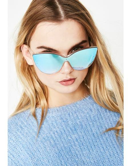 Space Sparkle Mirror Sunglasses