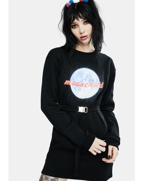 Moonchild Sweatshirt Dress