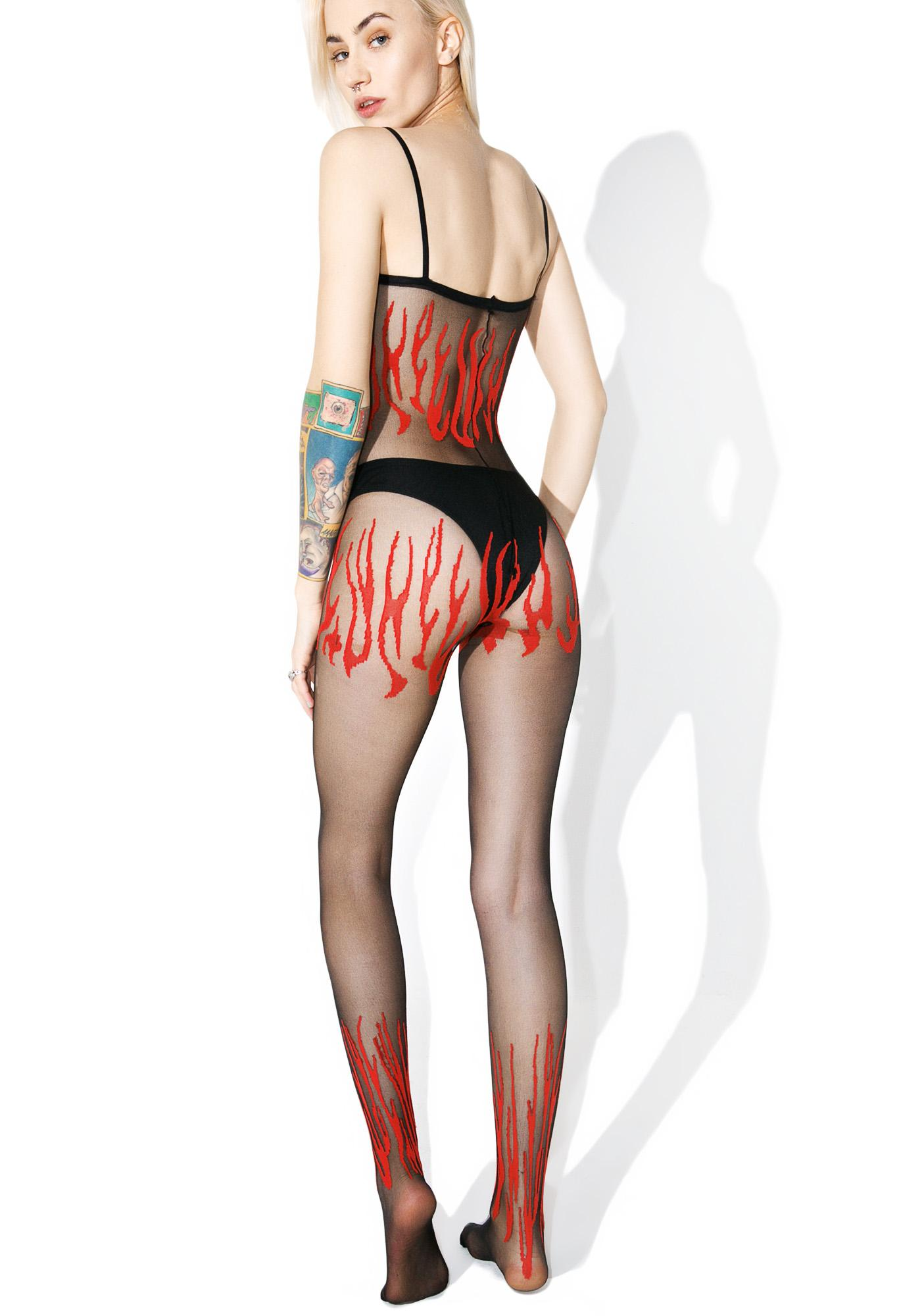 Lucy-fer Crotchless Bodystocking