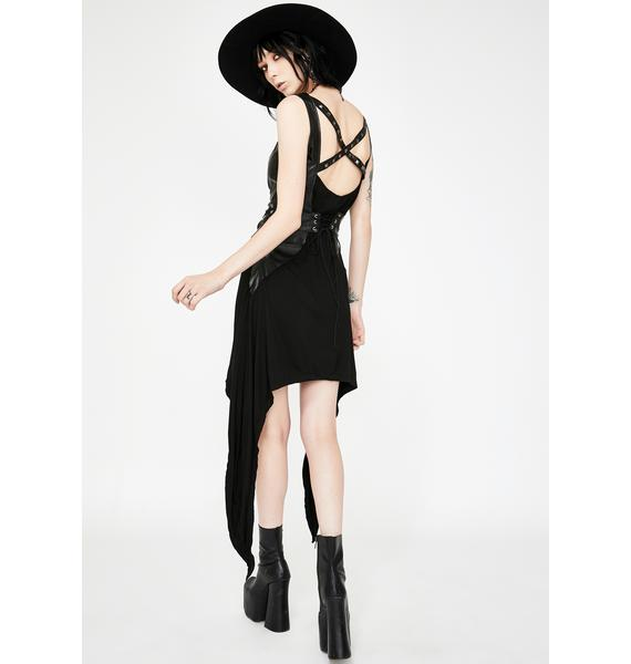 Necessary Evil Tara Faux Leather Dress
