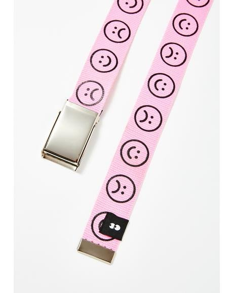 Pink Happy Sad Belt