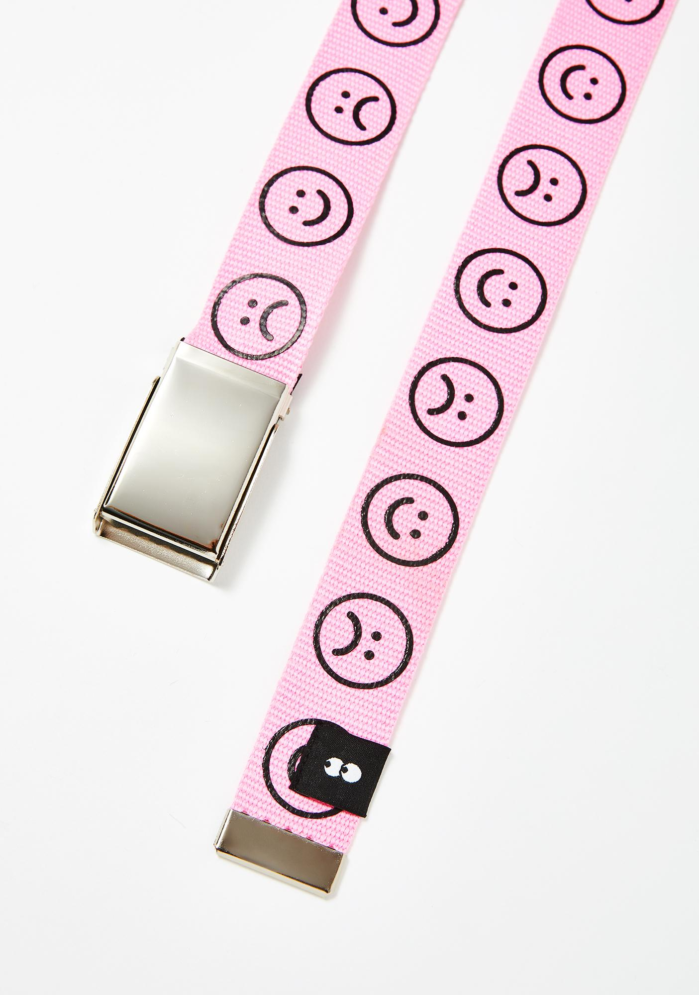 Lazy Oaf Pink Happy Sad Belt