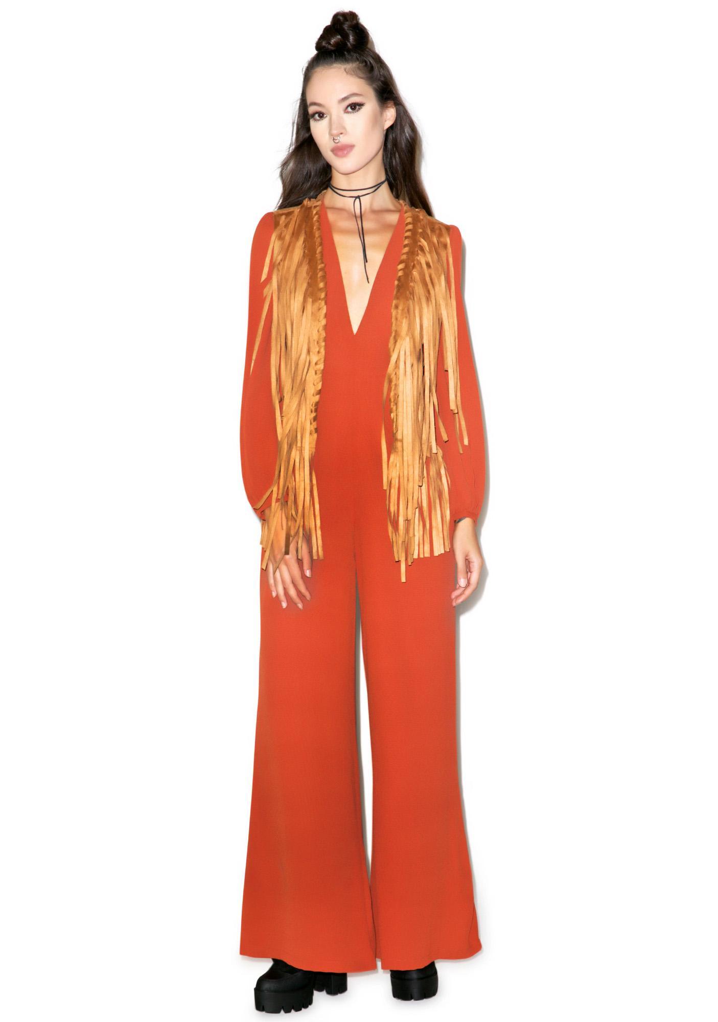 Glamorous Free Spirit Fringe Vest