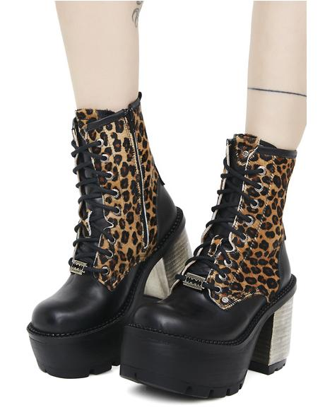 Claws Out Lace-Up Boots