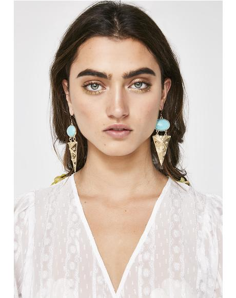 Desert Royalty Triangle Earrings