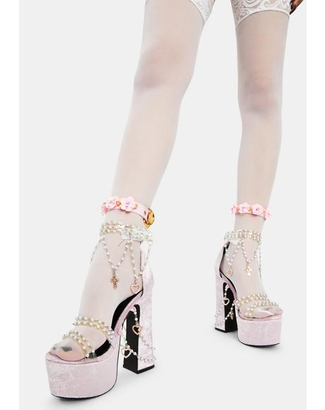 Sweet Prickly Lover Rose Ankle Cuffs