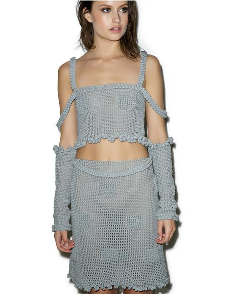 Candy Mesh Crochet Skirt
