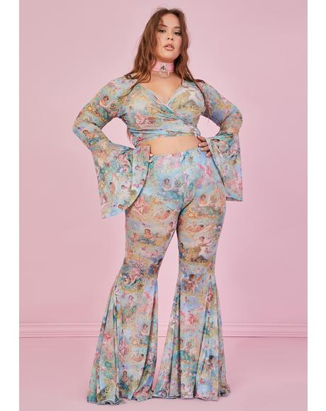 Lux Divine Lush Opulence Flare Pants