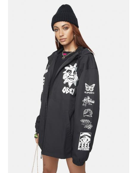 Bad Behavior Deconstructed Zip Jacket