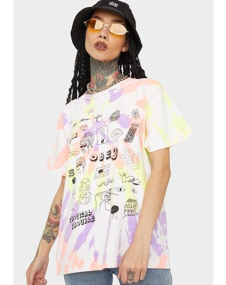 Tropical Trouble Tie Dye Tee