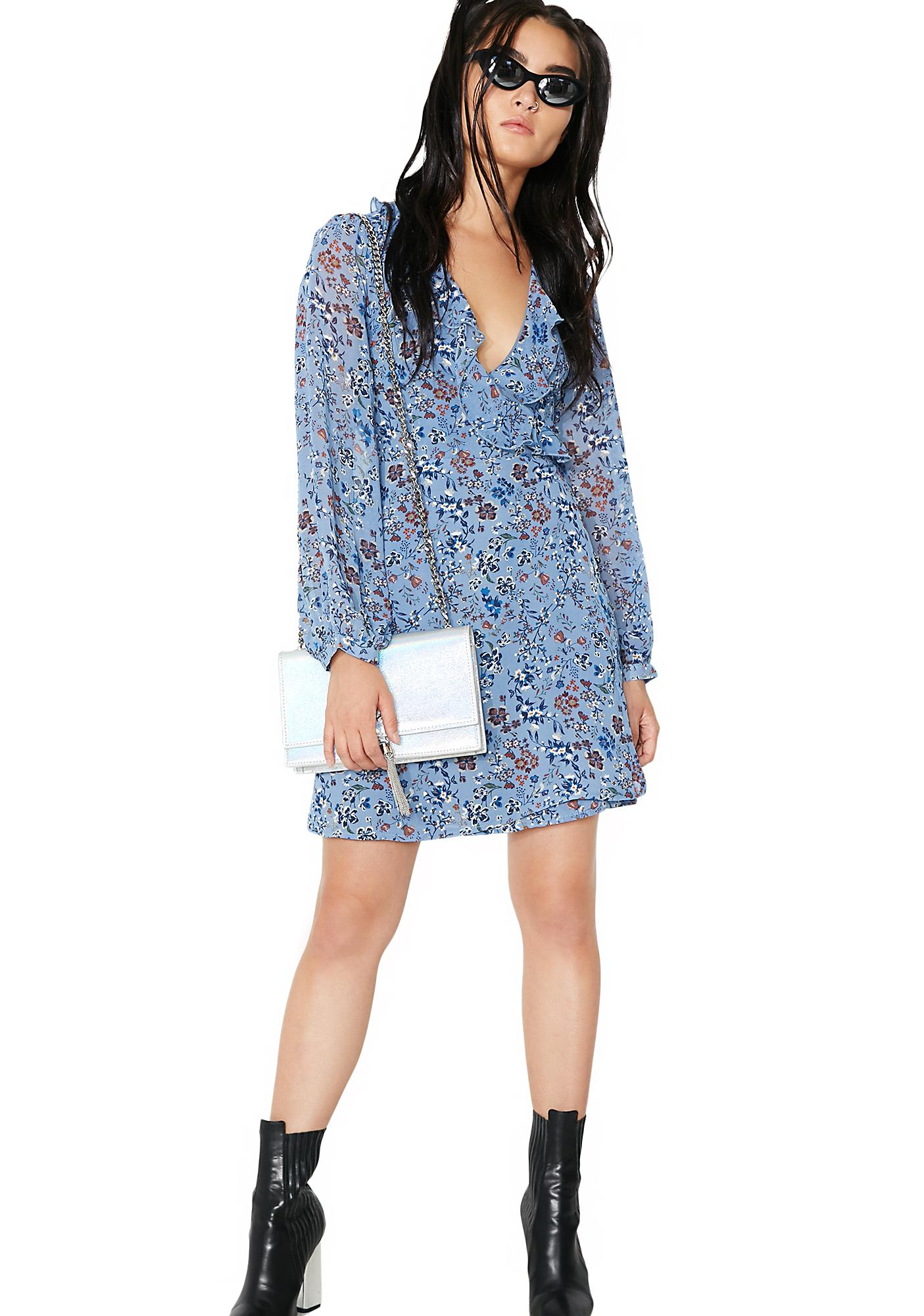 Glamorous Farm Fresh Long Sleeve Mini Dress