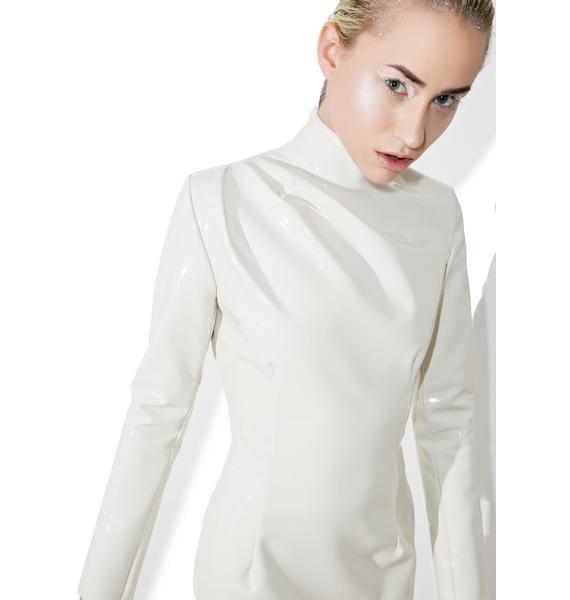 Maria ke Fisherman Creme PVC Dress