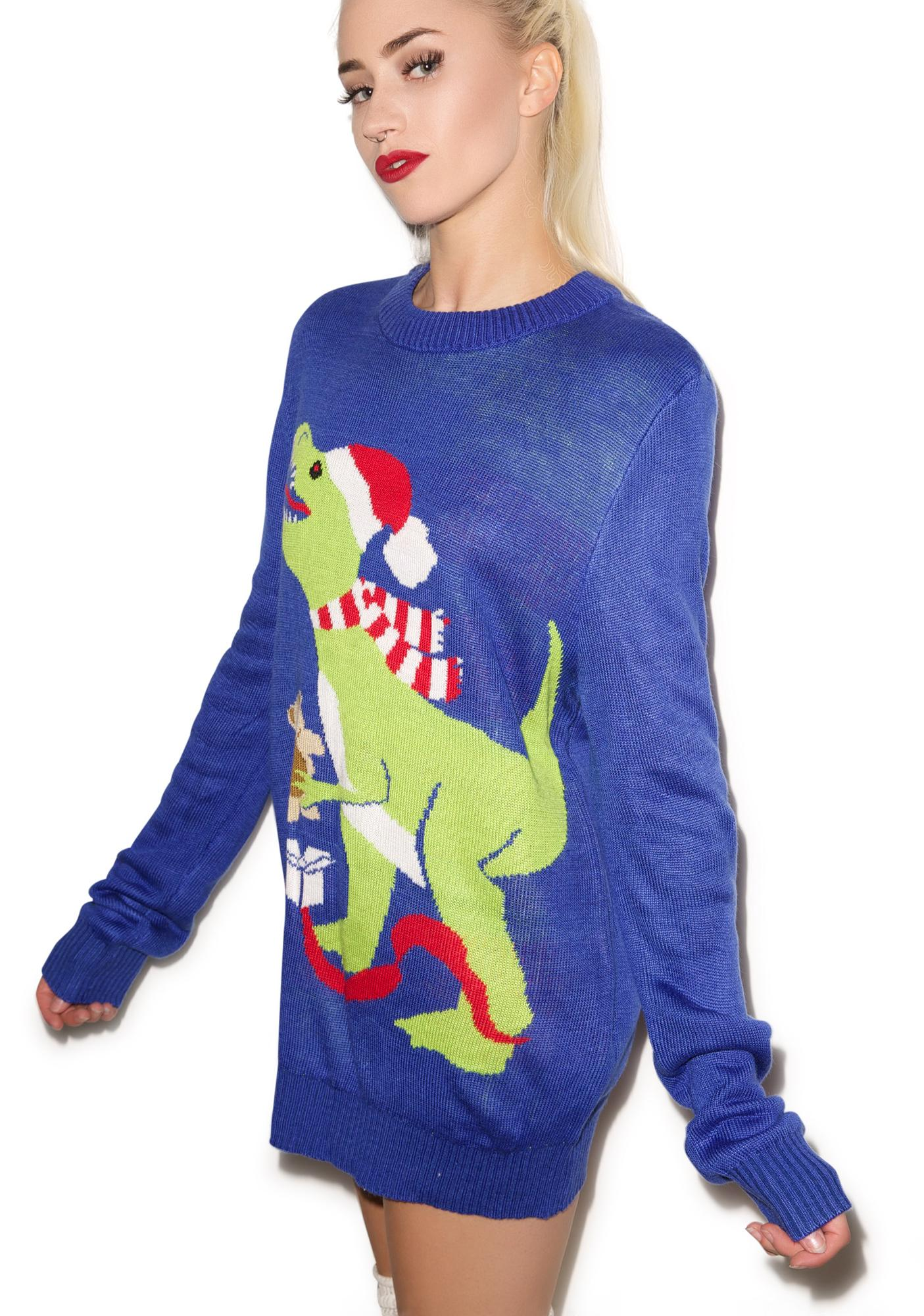 Tipsy Elves Santasaurus Rex Sweater