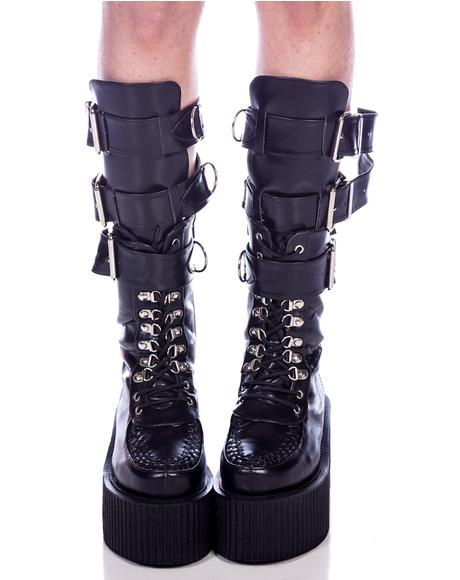 3-Buckle Calf Creeper Boots