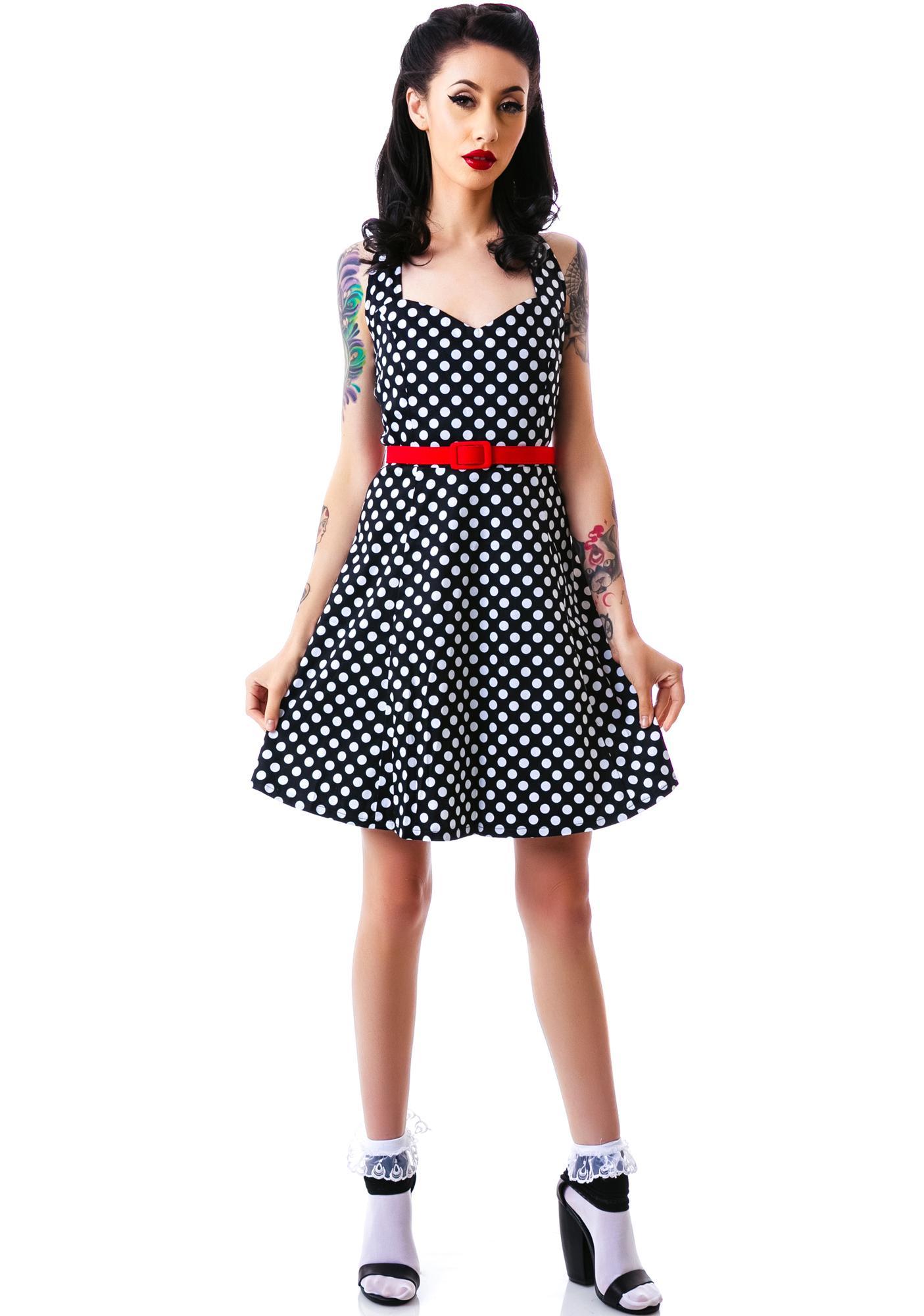 Sourpuss Clothing Flozzy Polka Dot Dress
