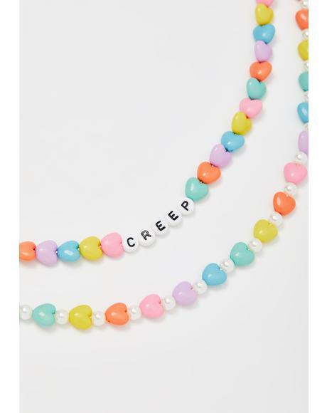 Dangerous Dollies Beaded Necklace