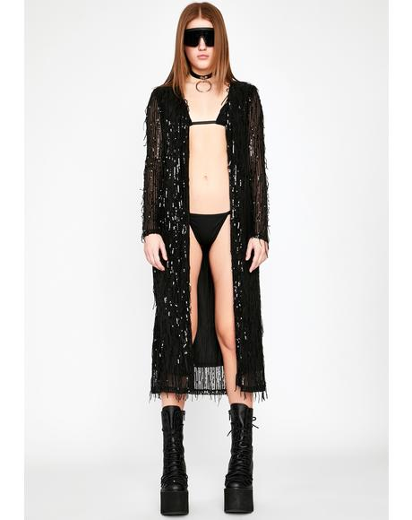Midnight Euphoric Fairy Sequin Duster