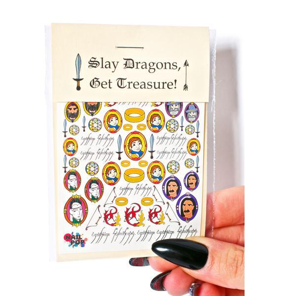 Nail Pop Slay Dragons, Get Treasure Nail Decals