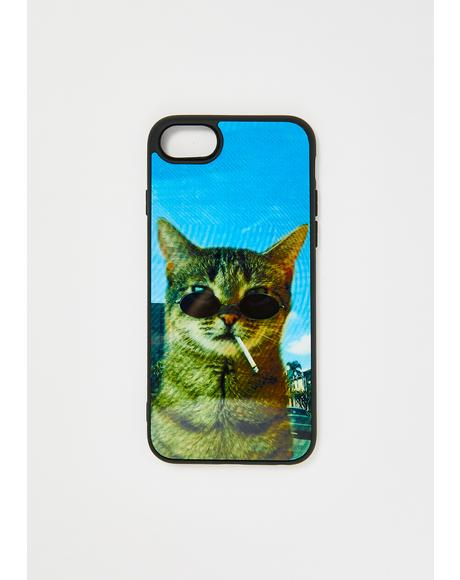 Smokey Cat iPhone Case