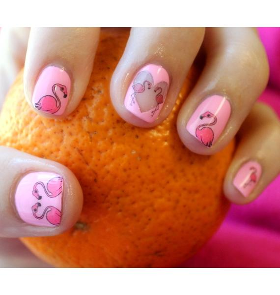 Nail Pop Flamingo Water Slide Decals