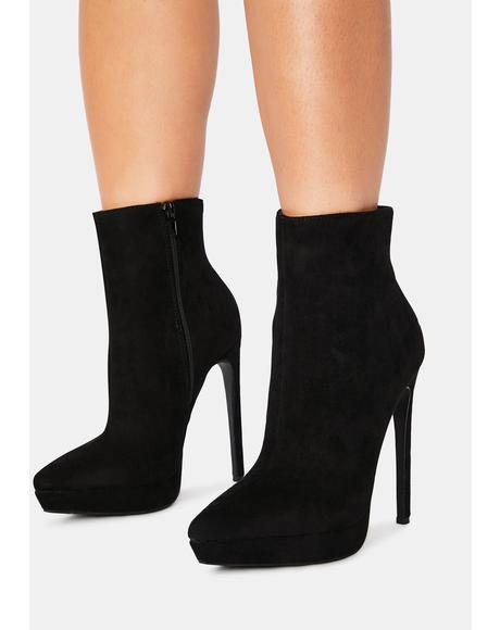 Noir Temporary Fix Ankle Booties