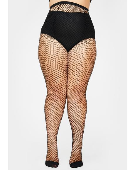 Unholy Her Bold Move Fishnet Tights