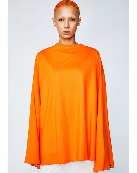 Renata Oversized Long Sleeve Tee