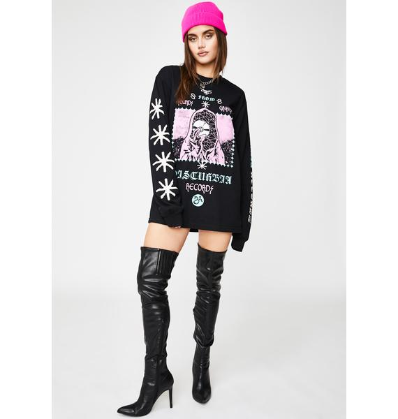Disturbia Records Graphic Long Sleeve