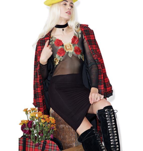 Ramblin' Rose Bodycon Dress