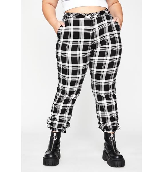 So Wicked Misconduct Plaid Joggers