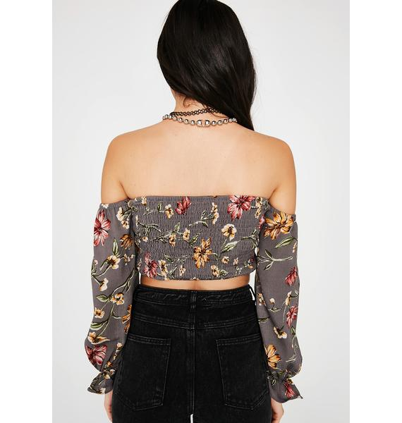 What The Flower Crop Top