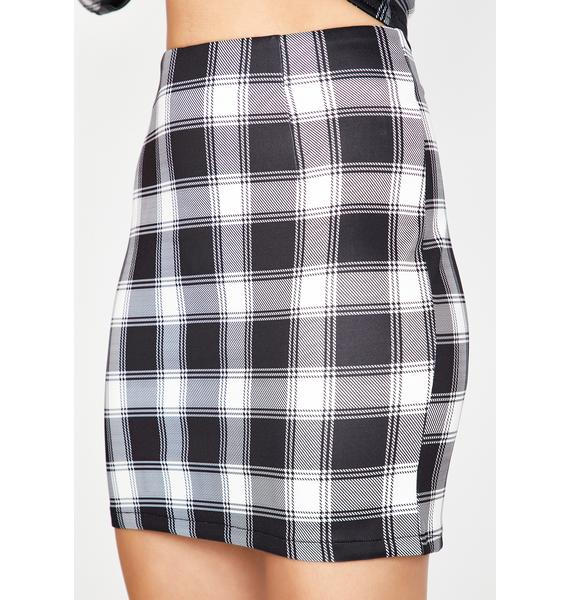 Plaid Action Mini Skirt
