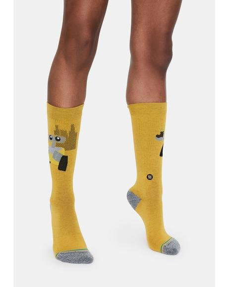 Wall E Crew Socks