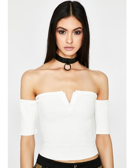 Ivory Totally Trendin' Crop Top