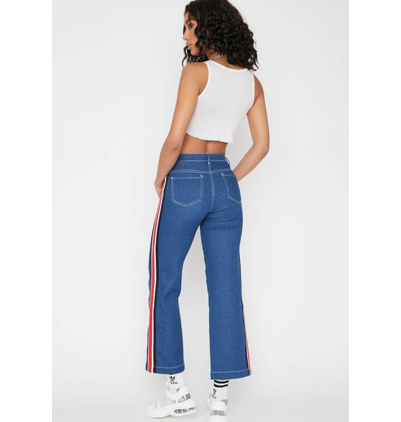 HOROSCOPEZ Major League Wide Leg Jeans