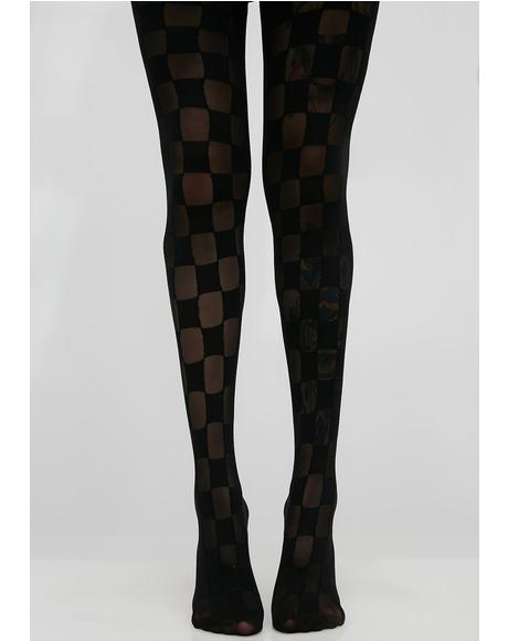 Checkerboard Tights