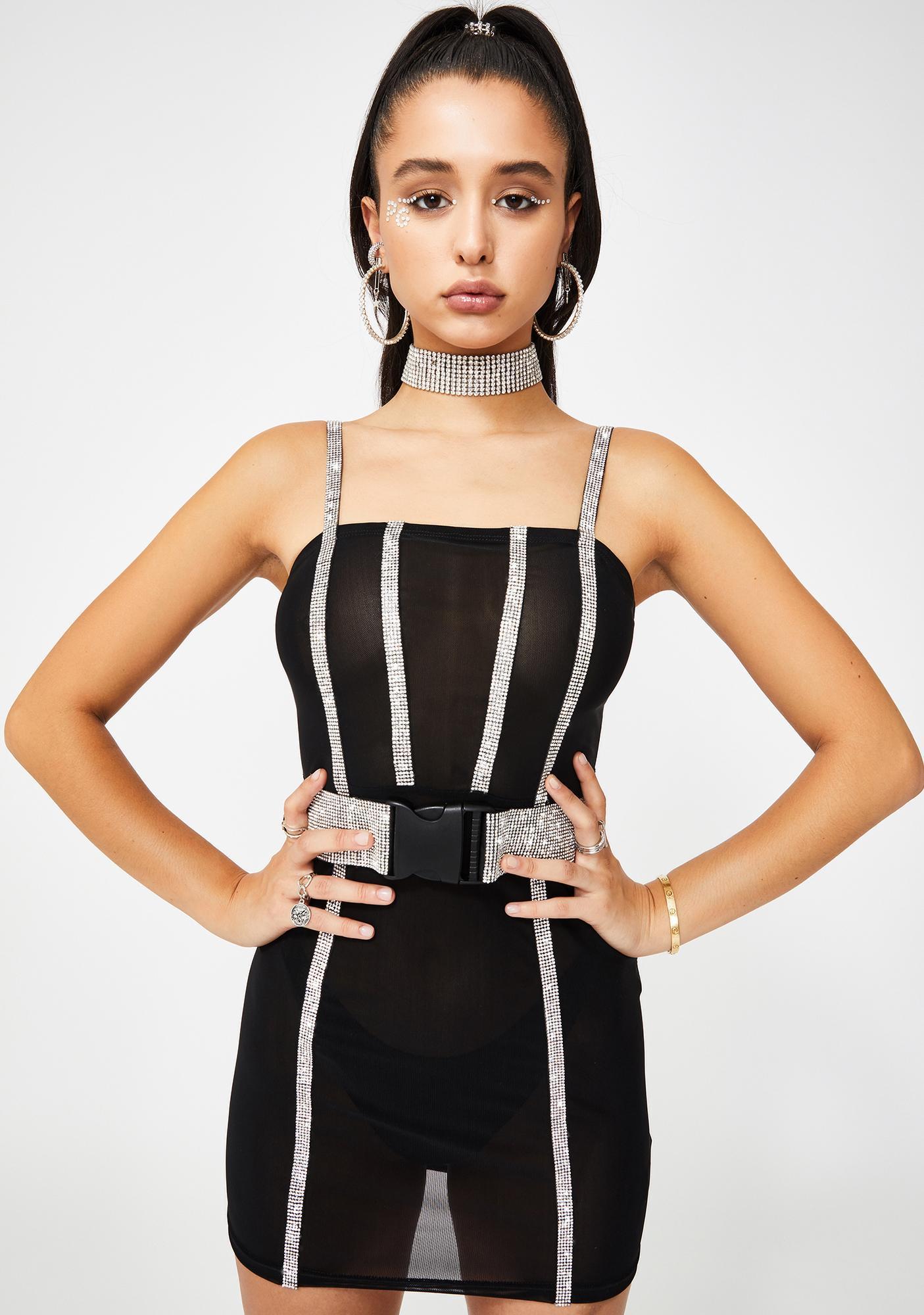 Poster Grl Saturday Night Diva Rhinestone Dress
